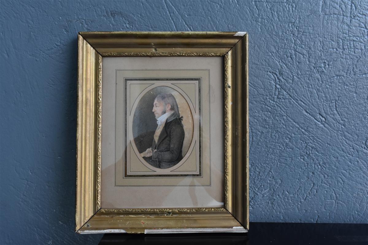 Portrait d'époque Début XIXème Dessin -photo-4