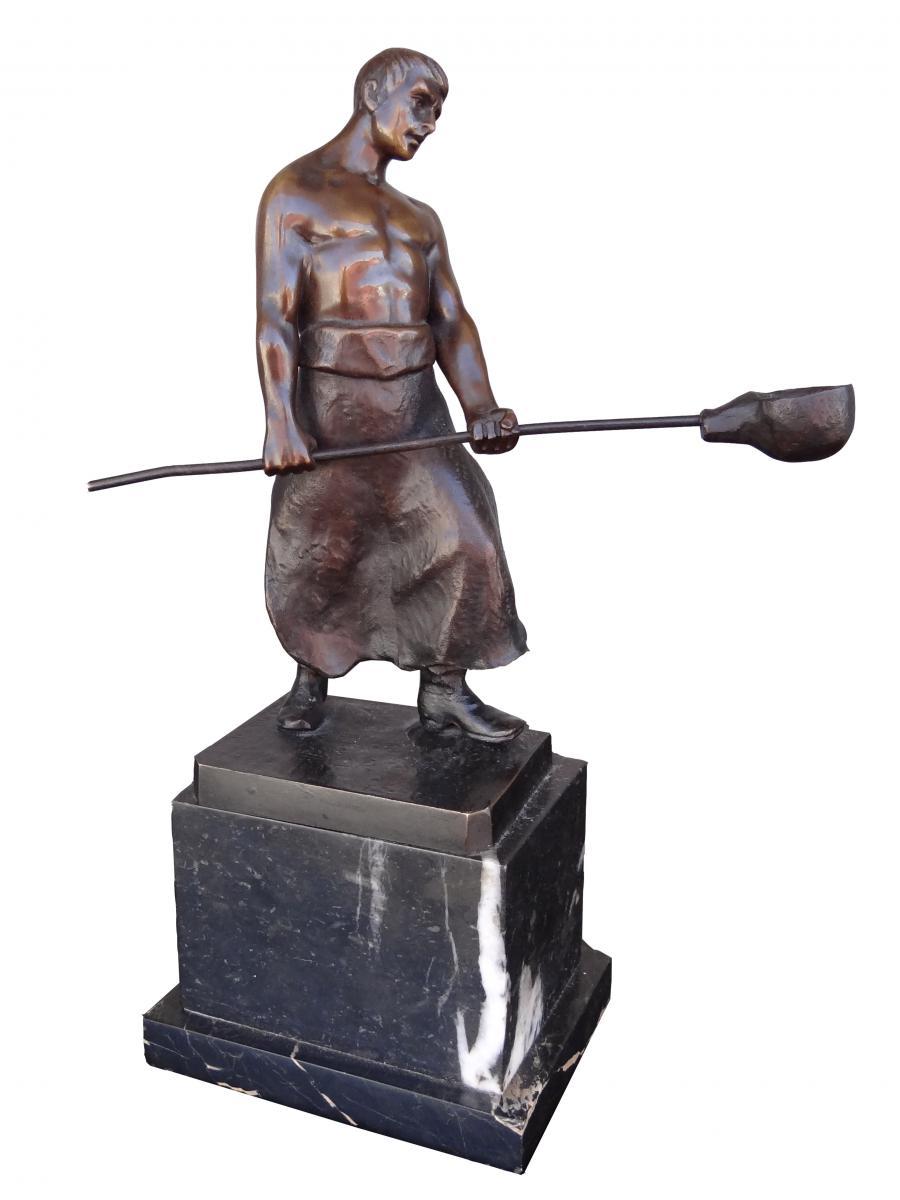 Bronze Art Déco Signé Jensen
