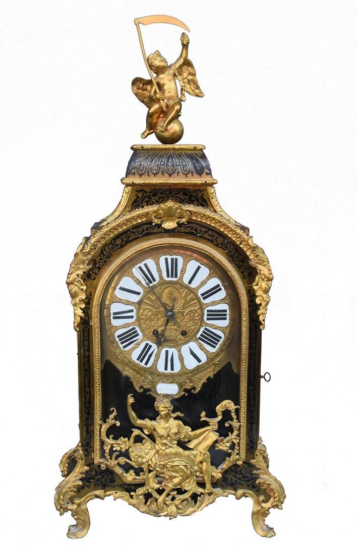 Pendule Cartel époque Louis XIV Marqueterie Boulle XVIIème