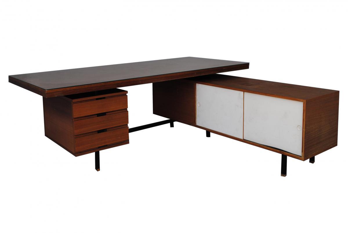 bureau pr sidentiel scandinave en teck bureaux. Black Bedroom Furniture Sets. Home Design Ideas