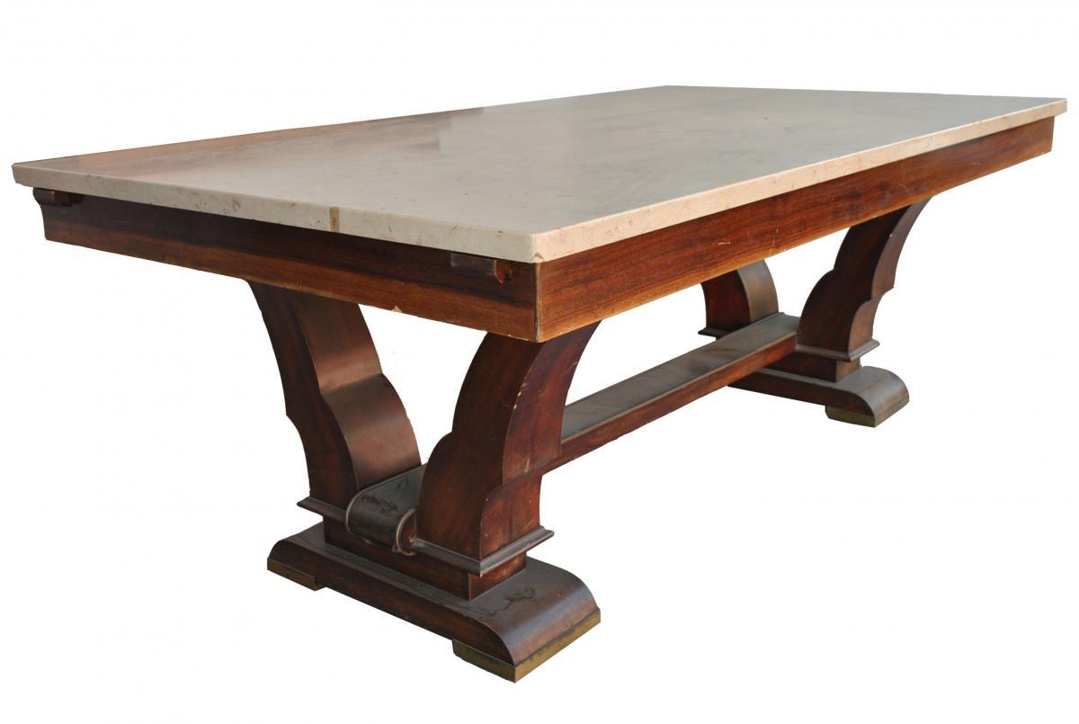 table de salle manger 40 palissandre plateau en travertin tables. Black Bedroom Furniture Sets. Home Design Ideas