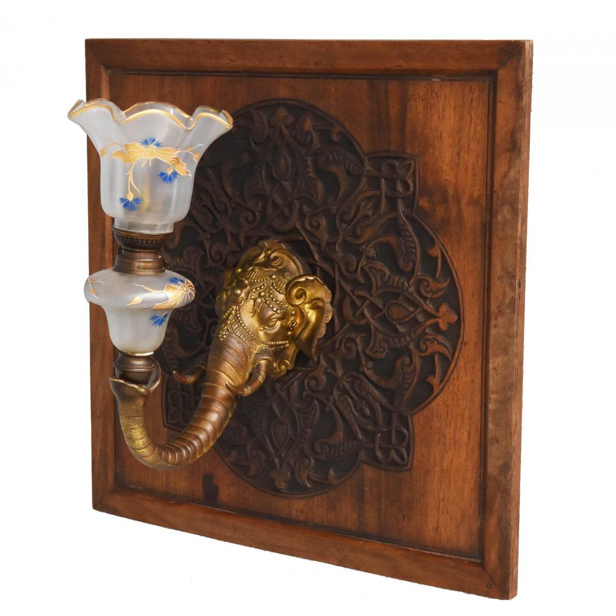 Applique éléphant époque 1900 En Bronze