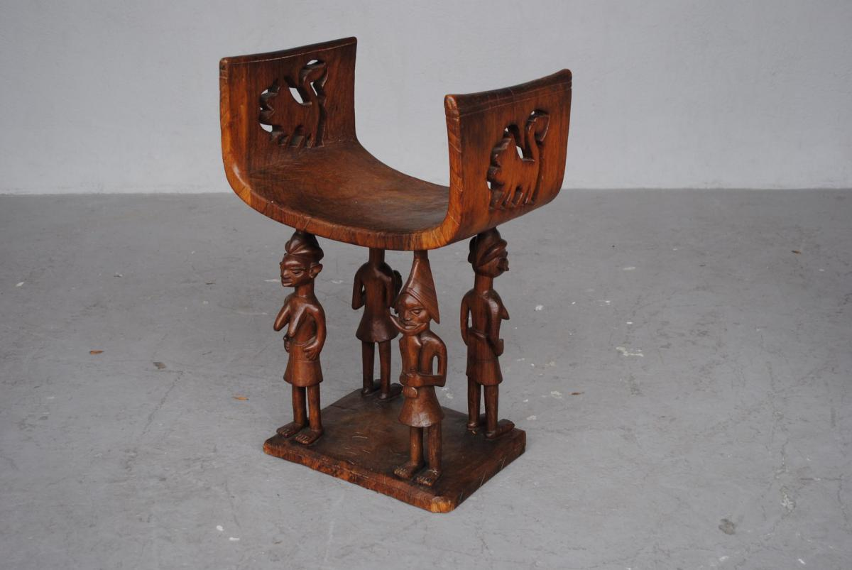 Si ge de chef de tribu b ninois fauteuils - Meubles traditionnels ...