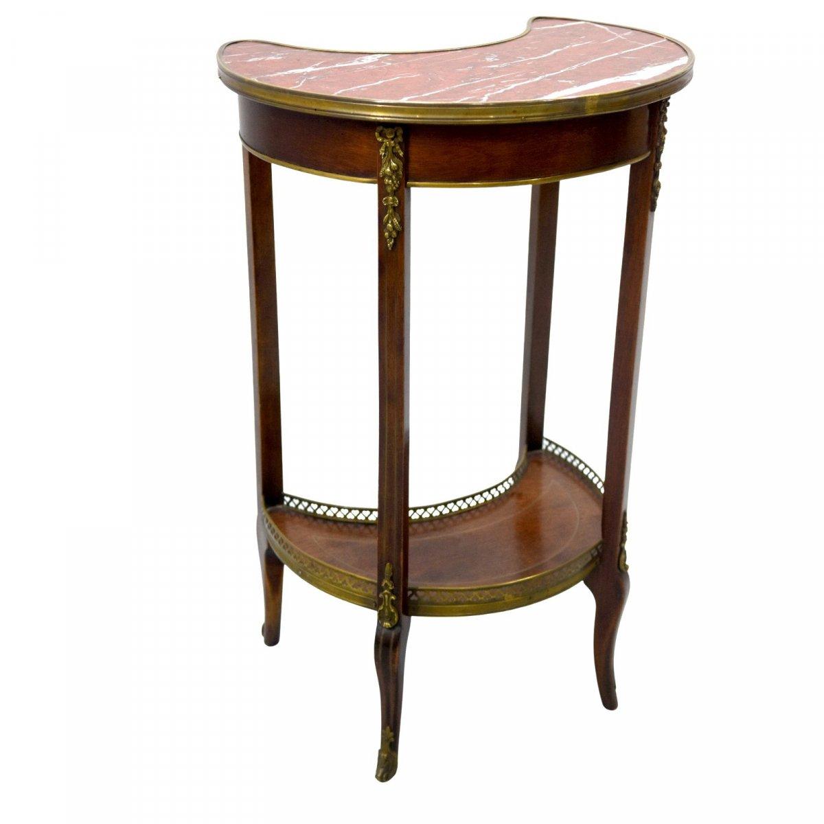 Table De Chevet Style Louis XVI Acajou époque XIXème-photo-2