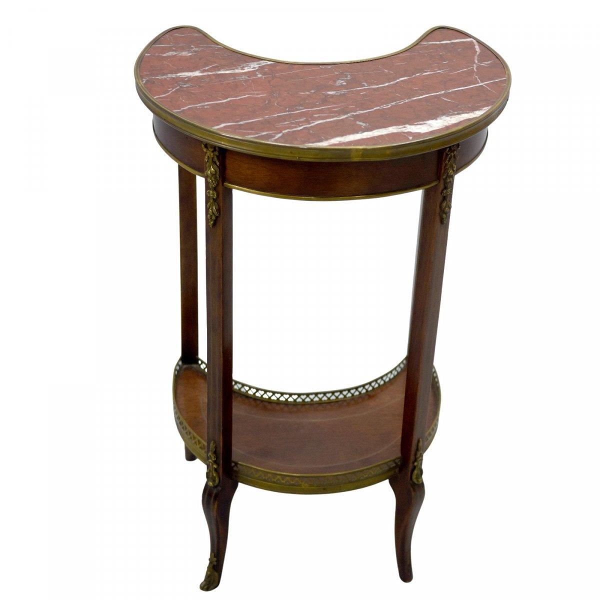 Table De Chevet Style Louis XVI Acajou époque XIXème-photo-1