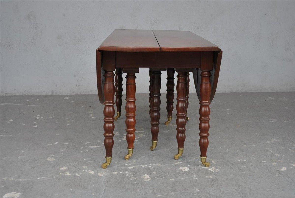 Table à 10 Pieds En Acajou d'époque XIXème-photo-1