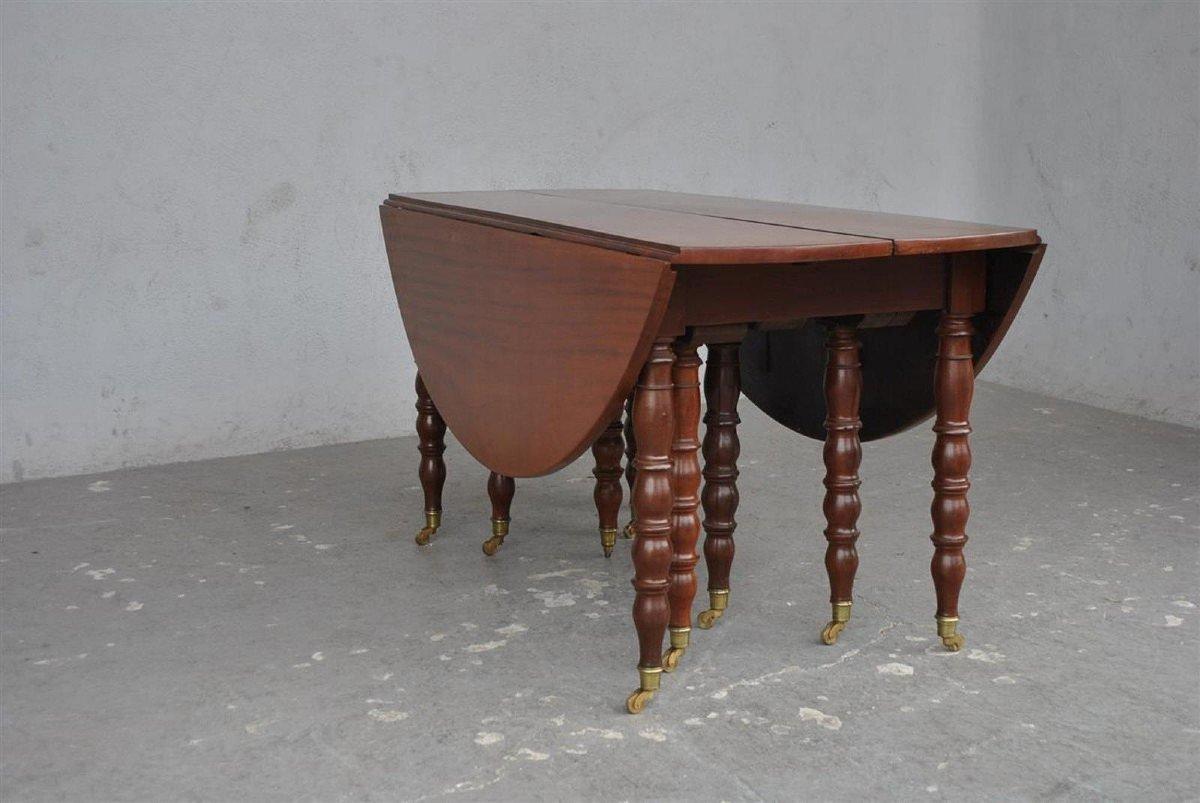 Table à 10 Pieds En Acajou d'époque XIXème-photo-2