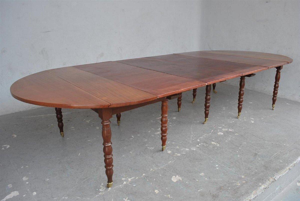Table à 10 Pieds En Acajou d'époque XIXème-photo-6