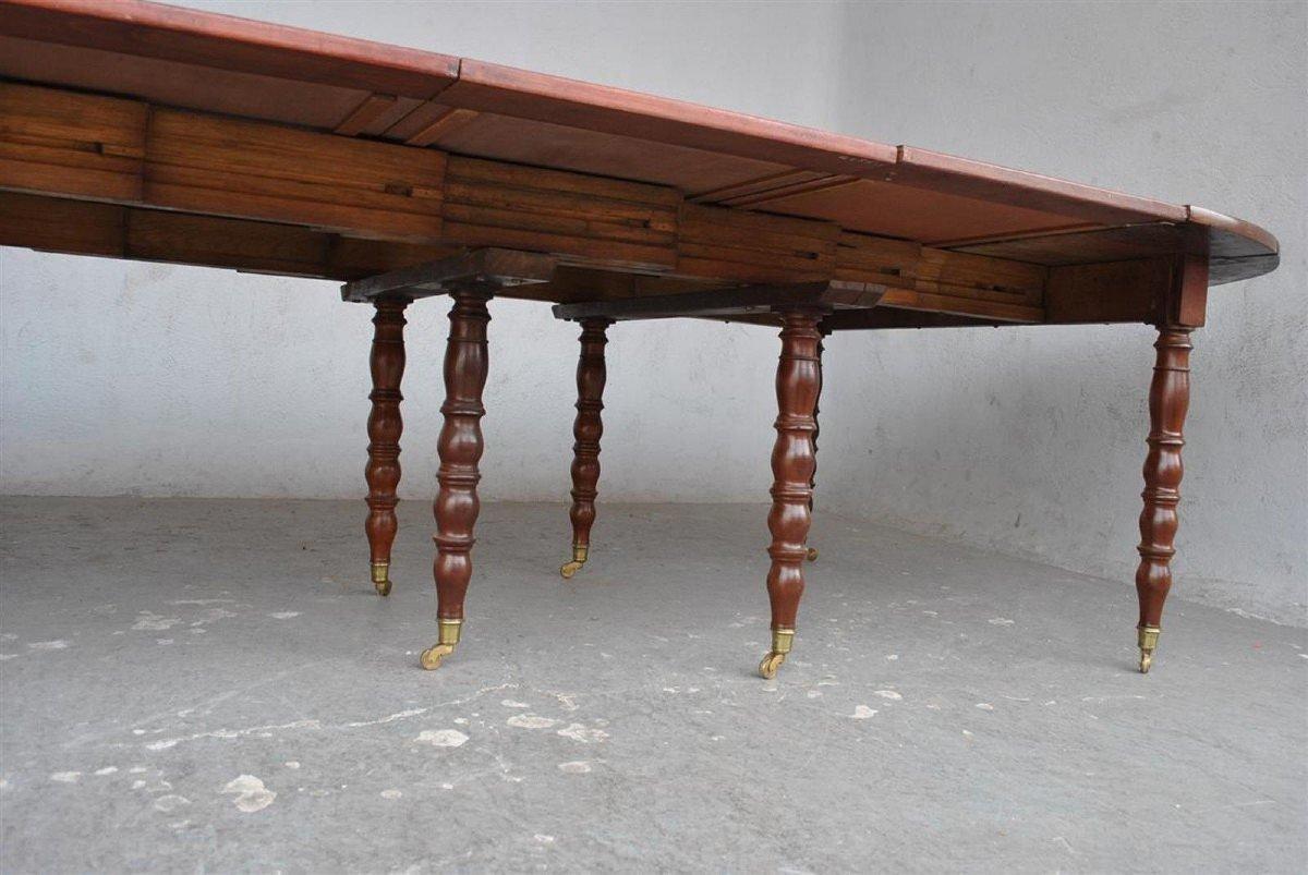 Table à 10 Pieds En Acajou d'époque XIXème-photo-7