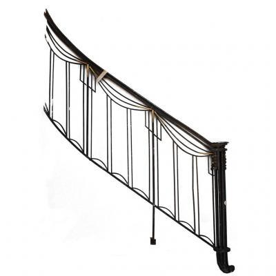 Départ De Rampe d'Escalier En Fer Forgé Art Déco 1930