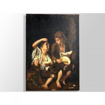 Oil On Canvas From Murillo XVII Workshop