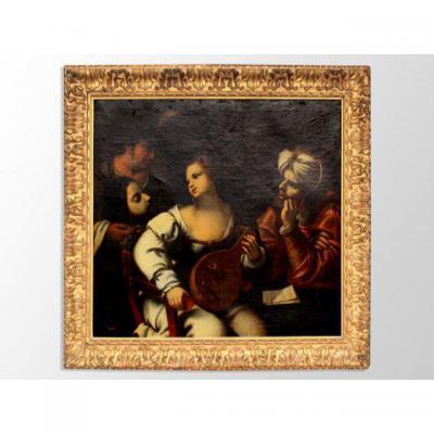 Huile Sur Toile Italienne XVIIIème Biblique Pietro Della  Vecchia Dit Pietro Muttoni