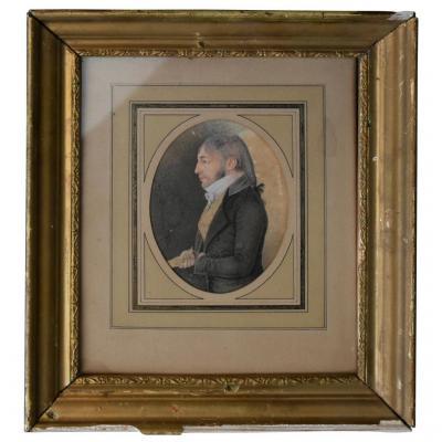 Portrait d'époque Début XIXème Dessin