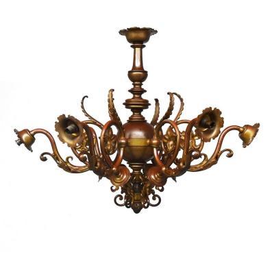 Exceptionnel Lustre Hollandais En Bronze