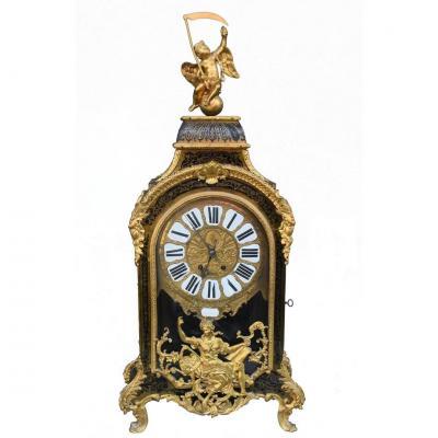 Pendulum Cartel Louis XIV Marquetry Boulle XVII