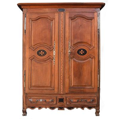 Regional Armoirette In Oak Louis XV Eighteenth Time