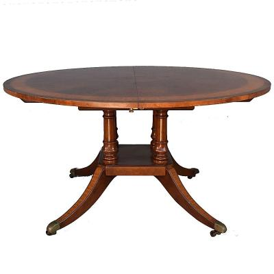 Table Ronde Anglaise En Acajou à Allonges 1900