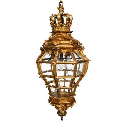 Lanterne En Bronze Doré Du Château De Versailles