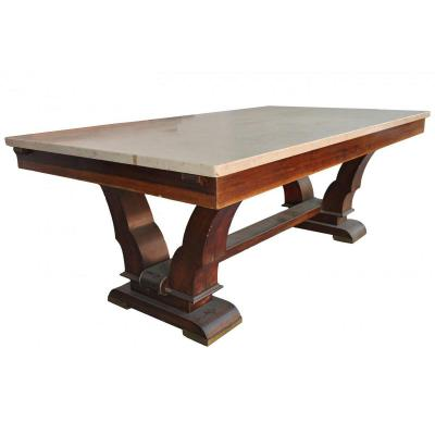 Table De Salle à Manger 40 Palissandre plateau en Travertin