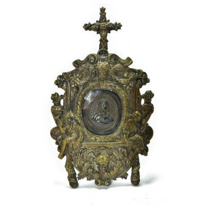 Osculatoire Gilt Bronze And Silver Louis XIV