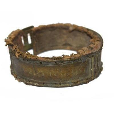 Collier De Molosse En Laiton époque XVIIIème