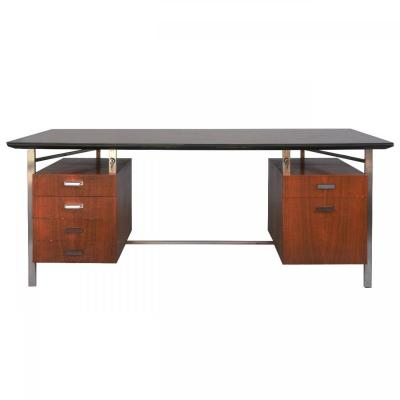 Presidential Desk Rosewood And Chrome 1960s