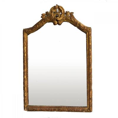 Louis XIV Style Mirror Golden Carved Wood 18th Century