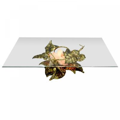 Rectangular Coffee Table Richard And Isabelle Faure Brass And Quartz