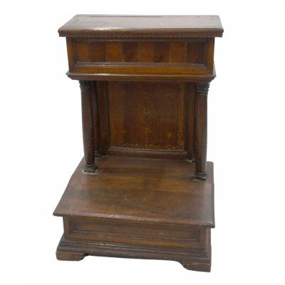 Prie-dieu Or Oratory In Walnut From The XVIth Century