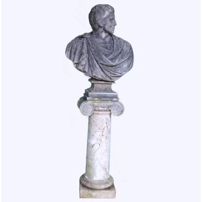 Sculpture De Parc Dignitaire Romain