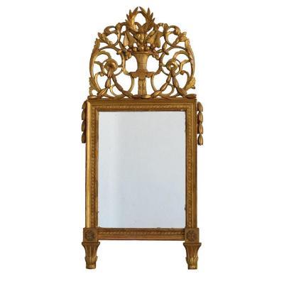 Miroir En Bois Doré Louis XVI époque XIXème