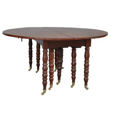 Table à 10 Pieds En Acajou d'époque XIXème