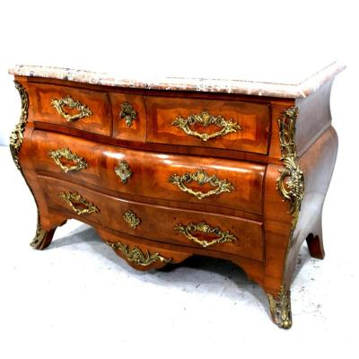 Commode Tombeau En Placage d'époque 1900