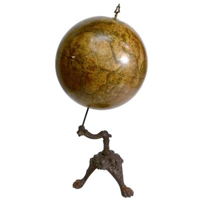 Globe Terrestre Girard Et Boitte Socle Fonte XIXème