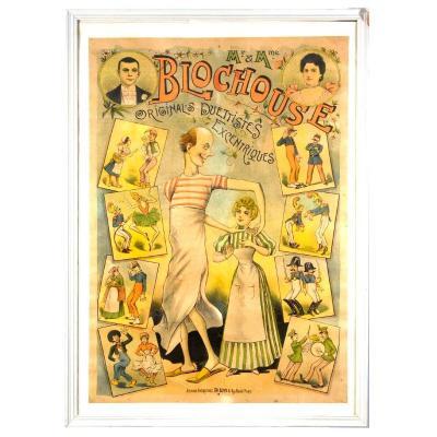 Affiche Américaine Ch Levy Mr Et Mme Blochouse Duettistes Excentriques