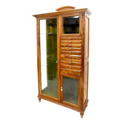 Rare Dental Cabinet In Walnut 1900