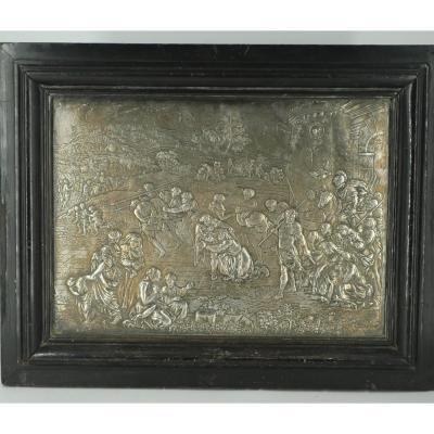 Relief en cuivre argenté par Gambier 1730