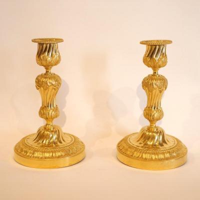 Pair Of Candlesticks Louis XVI Period