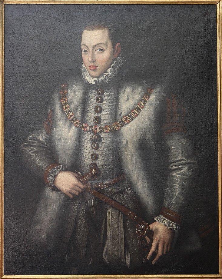 Alonso Sanchez Coello: Portrait Of Prince Carlos (son Of Felipe Ii)