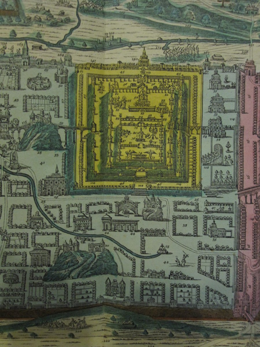 Large Map Of Jerusalem. Mateo Seutter 60 X 51 Cm. Colorful From The Time-photo-4
