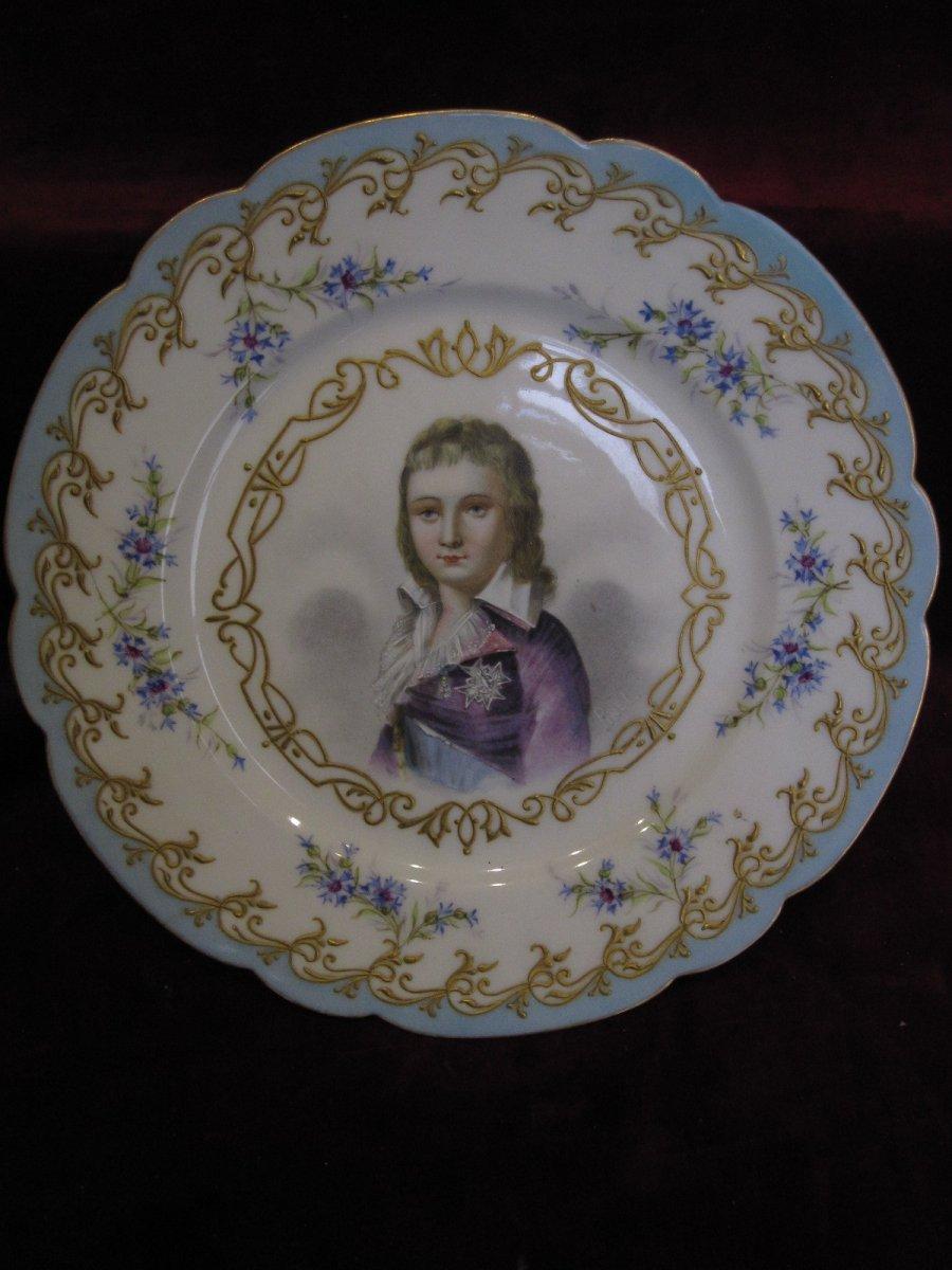 Sèvres Porcelain Plate. Portrait Of Louis XVII Dauphin