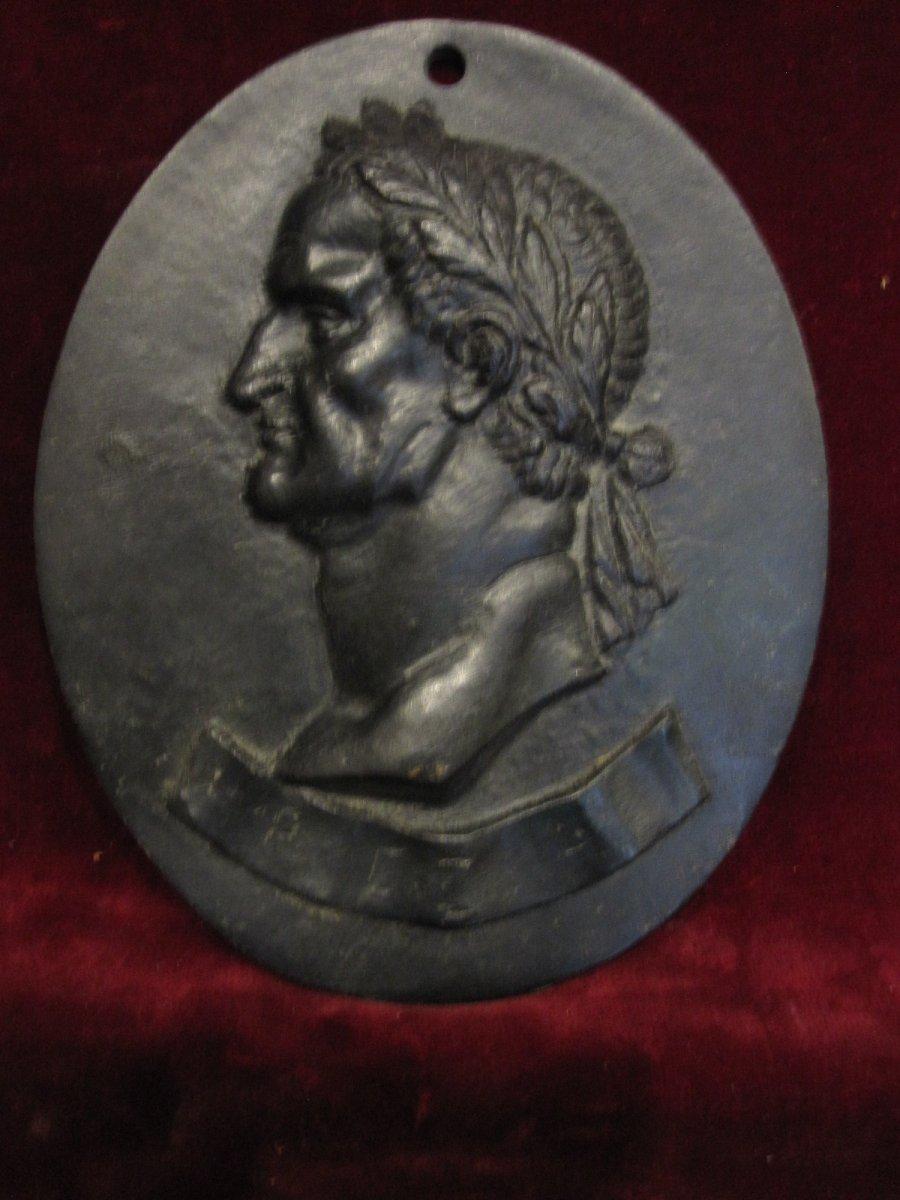 Emperador Galba: MÉdaillon Ovale En Bronze. Oeuvre Italienne Du 17ème Ou 18ème SiÈcle