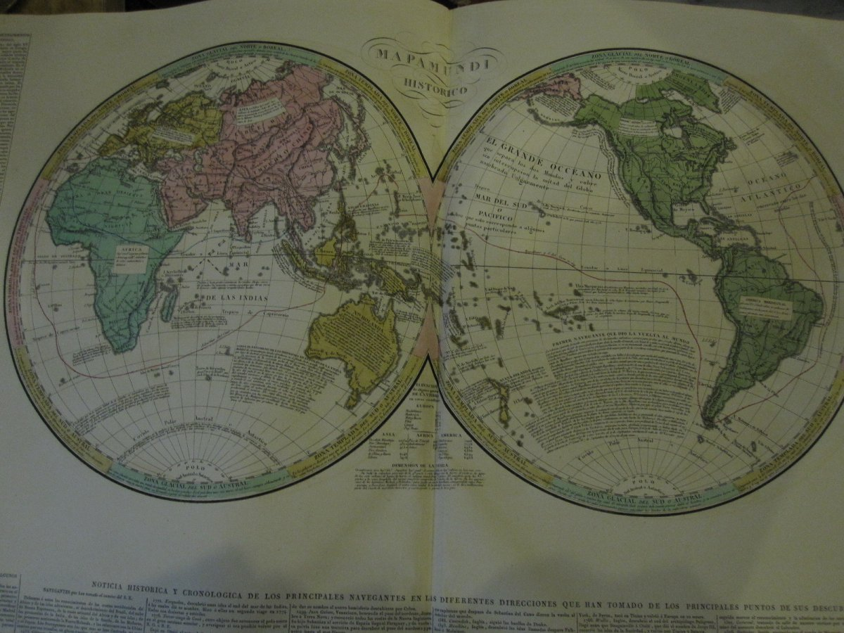 Count De Las Casas. Historical, Genealogical, Chronological, Geographic And Statistical Atlas