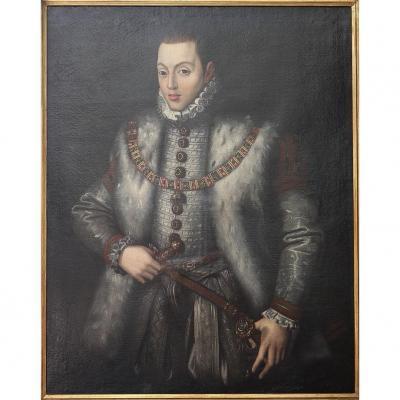 Alonso Sanchez Coello: Portrait Du Prince Carlos (fils De Felipe Ii)