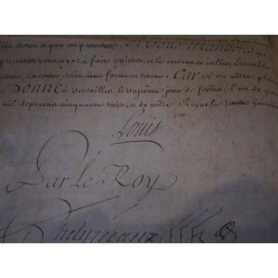 Document Parchemin Signé Par Le Roi Louis XVI
