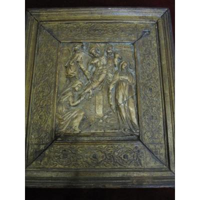 Descente Du Christ. Albâtre De Malines Du XVIe Siècle