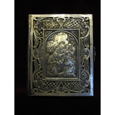 Cover For Book Of Hours Or Breviary In Sterling Silver. Century XVIII