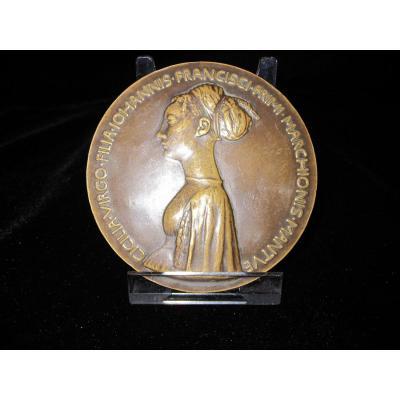 Cecilia Gonzaga, MÉdaille De Bronze, Faite Par Pisanello