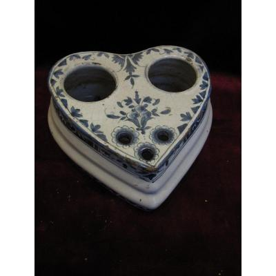 French Ceramic Inkwell From The 18th Or Early 19th Century
