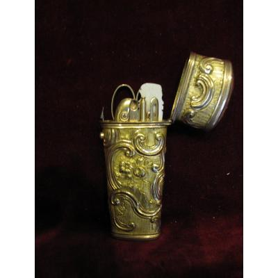 Beautiful 18th Century Gilt Bronze Travel Case